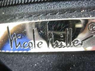 NICOLE MILLER Small Black Shoulder Handbag Bag