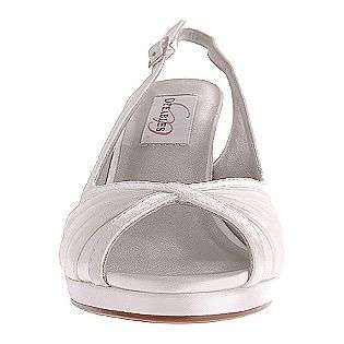 Hannah   White Satin  Dyeables Shoes Womens Evening & Wedding