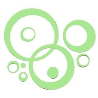 Wall Decor Plus More Key Lime Green Wall Vinyl Sticker Decal Circles