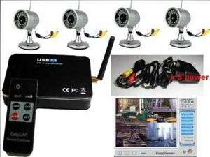 Wireless 4 Camera Kit Home Security Surveillance System