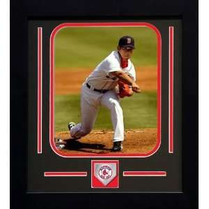 Daisuke Matsuzaka Boston Red Sox MLB Framed Photograph Pitching Dice K