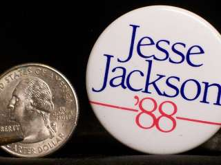 Jesse Jackson 1988 President Campaign Political Pin Back Metal Button
