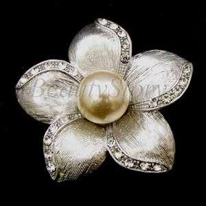 ADDL Item  imitation pearl rhinestone crystals flower