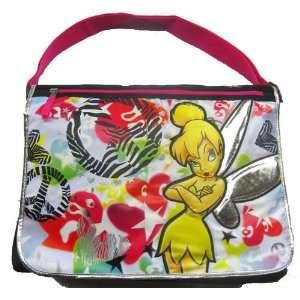 Tinker Bell Double Sided Girls Messenger School Bag: Sports & Outdoors