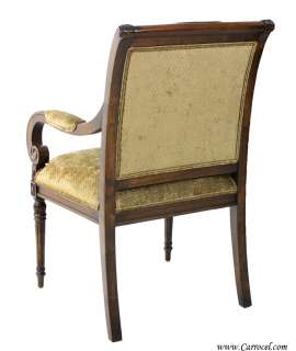 Set 8 Custom Empire Style Upholstered Dining Room Chairs by EJ Victor