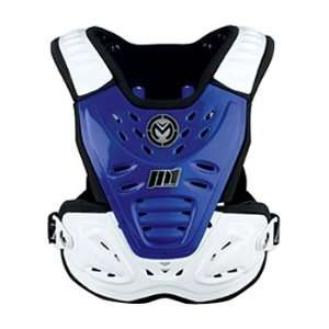 Roost Shield Off Road Motorcycle Body Armor   Blue/White / One Size