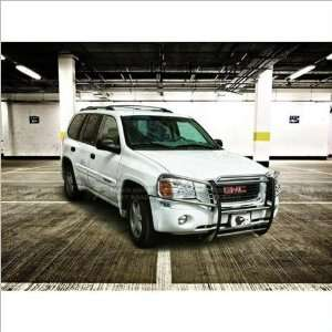 02 09 GMC Envoy Black Horse Stainless Steel Grill Guard Automotive