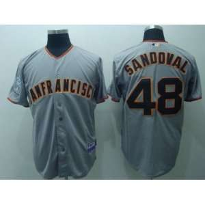2012 San Francisco Giants #48 Sandoval Grey Jersey Sports