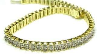 Vintage 14k Yellow Gold & 1 ct. Diamond Tennis Bracelet