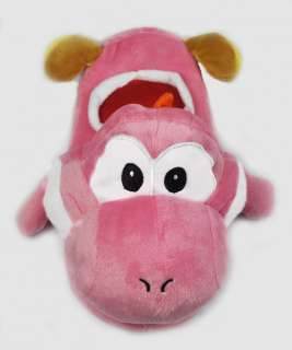 Super Mario Yoshi soft Plush anime Slipper Pink 01