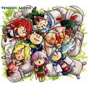 Tenchi Muyo T shirt   Chibi Chibi ADULT 2XL WHITE GILDAN LIGHTWEIGHT