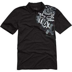Fox Racing Youth Mercer Polo Shirt   Small/Black Automotive