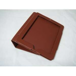 Brown Leather Case Cover for Apple iPad 3 Way View