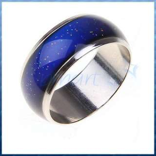 Mood Temperature Change Emotion Feeling Color Changeable Band Ring