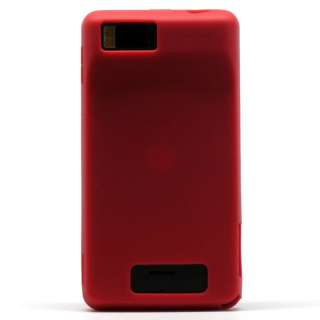 Red Soft Silicone Gel Cover Case for Motorola Droid X2