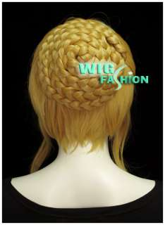 New Fashion Styled Yelllow Blonde Hair Wig With Bangs