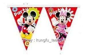 Disney Mickey Mouse Birthday Party Bunting Flag Banner