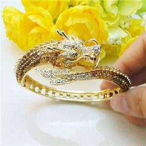 Fly Dragon Bracelet Bangle Cuff Topaz Swarovski Crystal