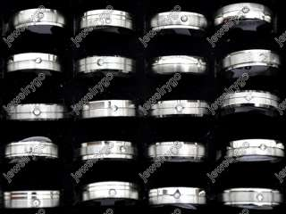 Wholesale Lot100 High Quality CZ Stainless steel Rings