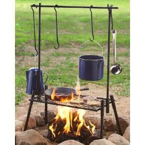 Guide Gear Campfire Backpackers Set Black: Sports