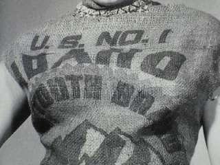 MARILYN MONROE WEARING U S NO. 1 TWIN FALLS IDAHO POTATOES SACK RARE