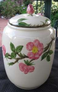 Vintage Pottery Franciscan Ware/Dinnerware Desert Rose Cookie Jar w