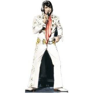 Elvis Presley   White Suit Life Size Cardboard Stand Up Talking Yes