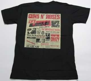RETRO VINTAGE ROCK GUNS N ROSES NEWS T SHIRT S,M,L,XL