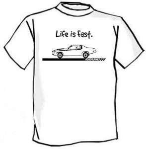 1973 74 Plymouth Roadrunner Muscle Car Cartoon Tshirt