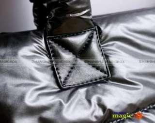 New Women Winter Fashion Nylon Shoulder Bag Tote Handbag Black Red