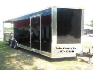 5x24 8.5 x 24 Custom Utility Enclosed Cargo Trailer w/ Porch + Ramp