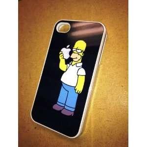 Homer Simpson Eating Apple iPhone 4 + 4s Black Case
