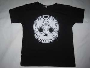 DAY OF THE DEAD DIA DE LOS MUERTOS CHILD KIDS BABY SUGAR SKULL T SHIRT