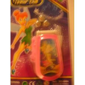 Disney Tinkerbell 3D Scene Change Toy Cell Phone & Batteries ~ Pink