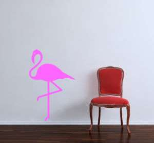 Large Pink Flamingo Wall Decal Mural