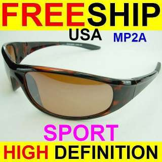 HD HIGH DEFINITION VISION SPORT/DRIVING SUN GLASSES NEW