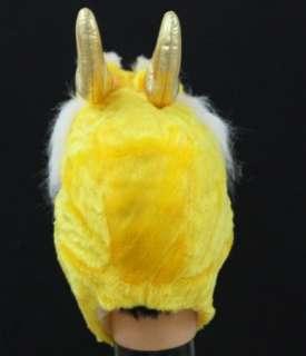 Chinese Legend Animal Gold Dragon Warm Hat Costume H03