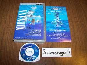 Nirvana Nevermind PlayStation Portable PSP UMD Music