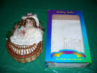 Ashley Belle 1980s Porcelain Doll in Box