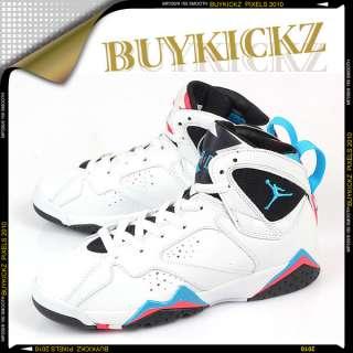 Nike Air Jordan 7 VII Retro (GS) White/Blue Black 2011