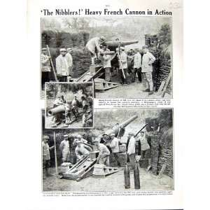 1915 WORLD WAR FRENCH CANNON GUN SOLDIERS CHAMPAGNE