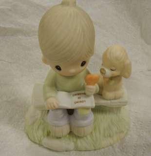 Precious Moments Loving is Sharing 1979 Figurine