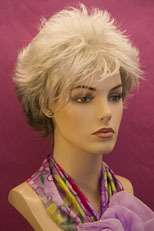 Short Straight Grey Dark Brown Razor Shag Wig
