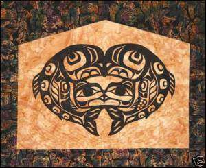 RAVEN SALMON QUILT KIT WALL HANGING WITH PATTERN