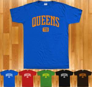 QUEENS T shirt   Area Code 718   New York NYC XS 4XL
