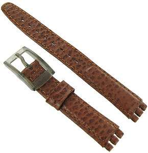 Sports Leather Ladies Replacement Brown Watch Band Strap for Swatch