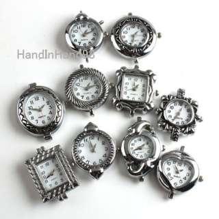 20 Mixed Silver Tone Beading Quartz Watches Faces P1464