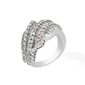18ct White Gold .20ct Diamond Ring Size 7 Jewelry