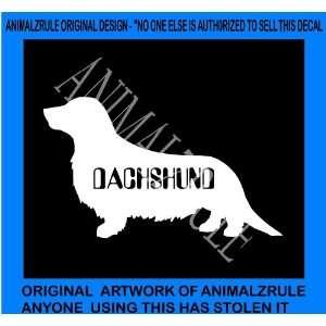 DACHSHUND DOG VINYL DECAL