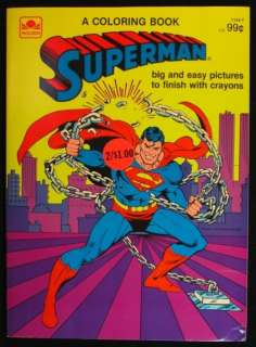 SUPERMAN COLORING BOOK 1983   UNUSED